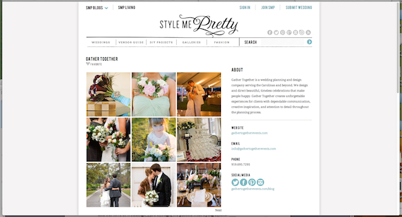 style me pretty little black book best raleigh durham chapel hill wedding planner gather together