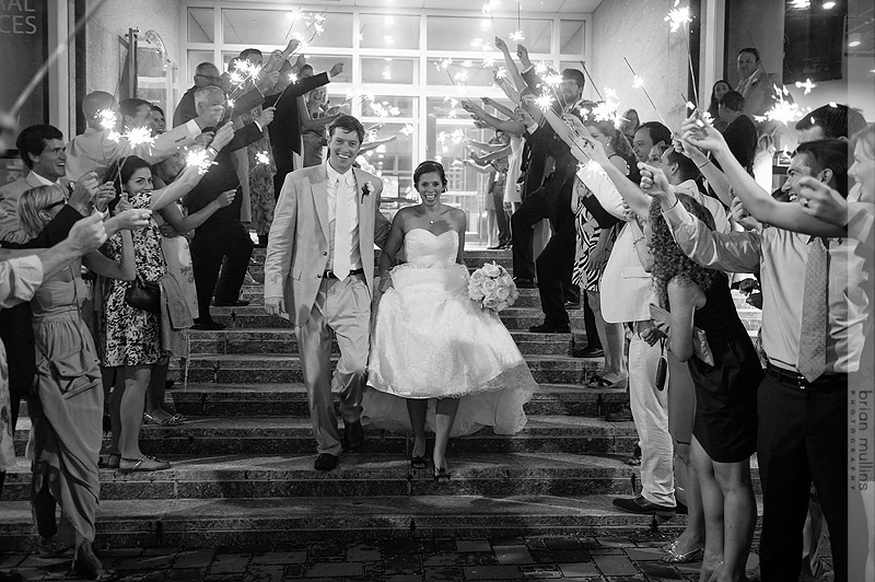The couple were simply glowing in the light of the sparklers. Photo by Brian Mullins Photography