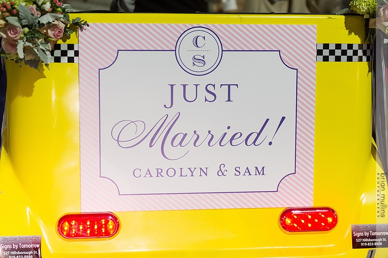Congrats to Carolyn & Sam! Photo by Brian Mullins Photography