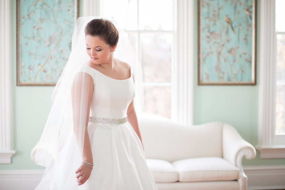 bridal portrait raleigh winter wedding merrimon-wynne