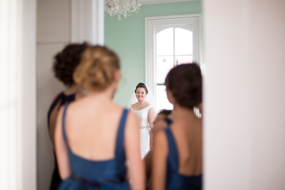 bride first look raleigh wedding merrimon-wynne