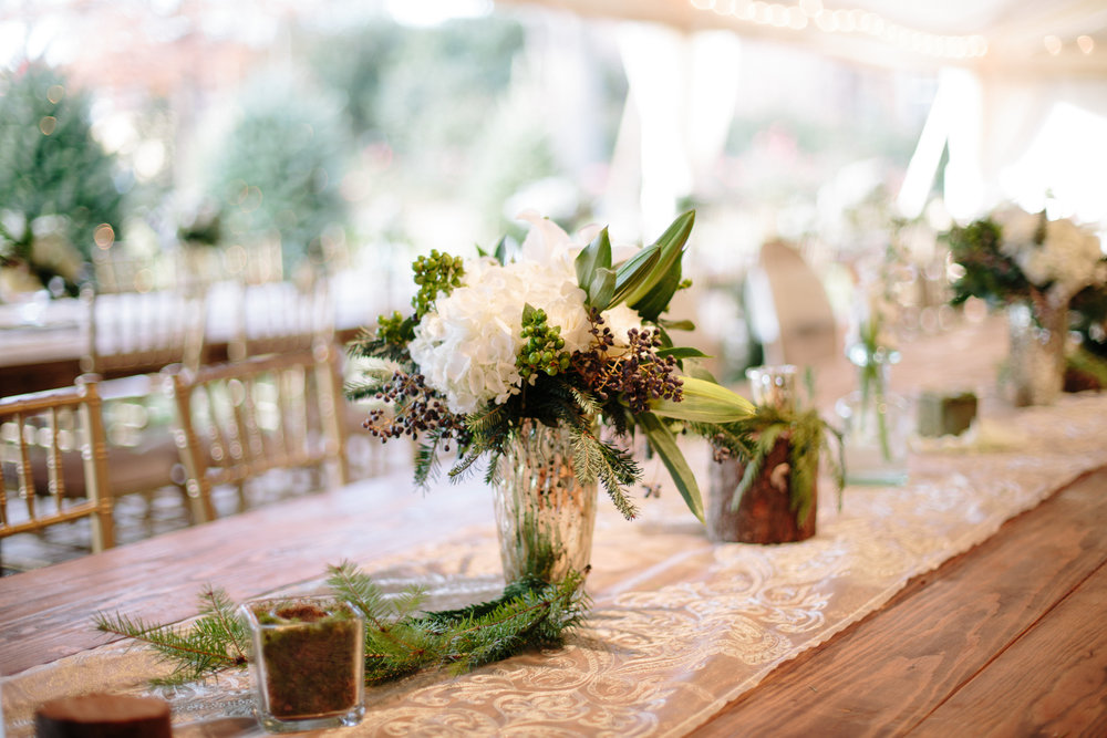 floral wedding decor raleigh winter wedding