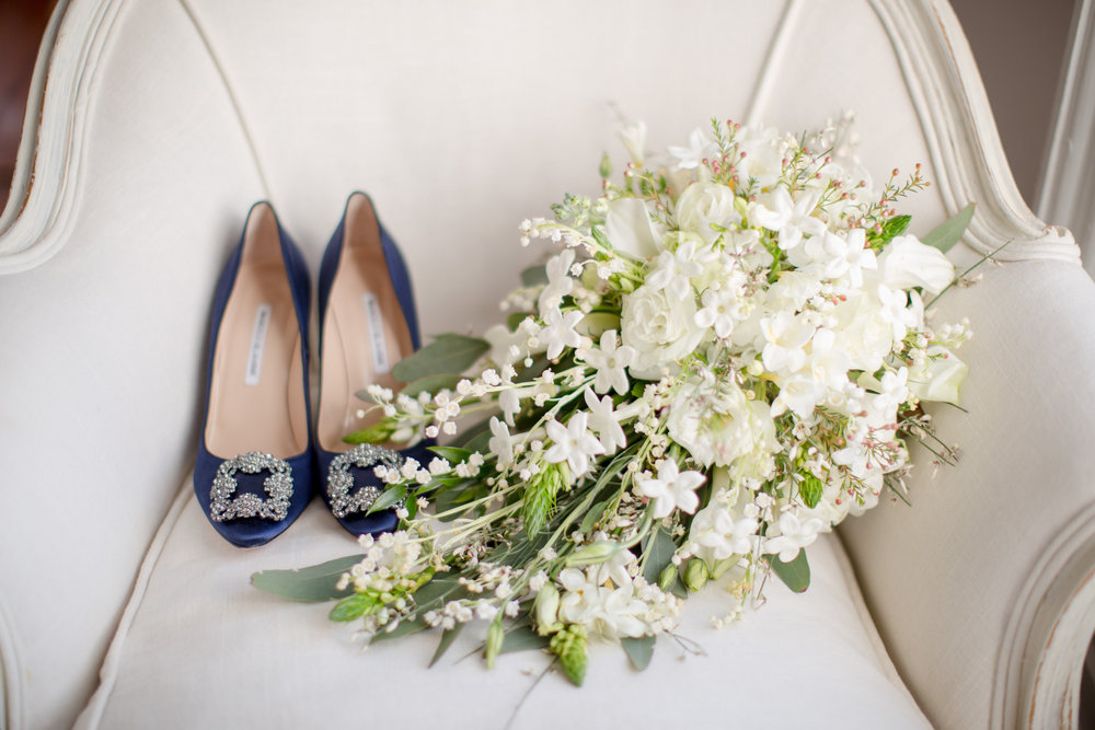 bridal bouquet manolo blahnik wedding shoes raleigh winter wedding