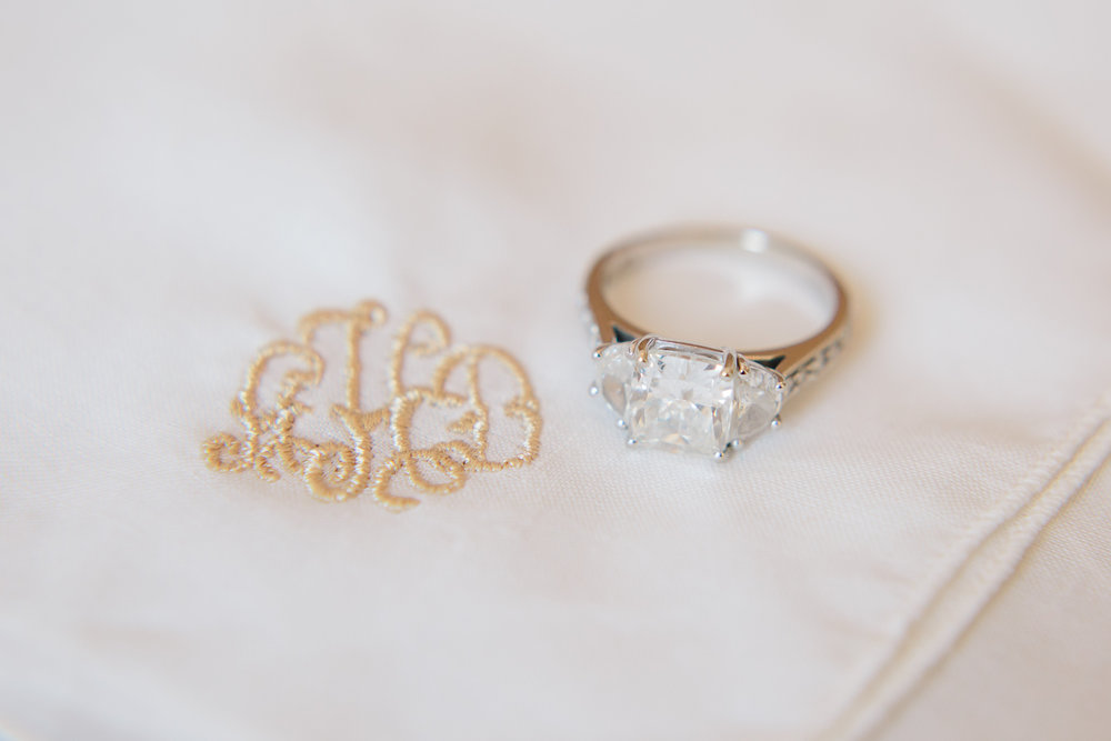 embroidered handkerchief wedding ring raleigh winter wedding