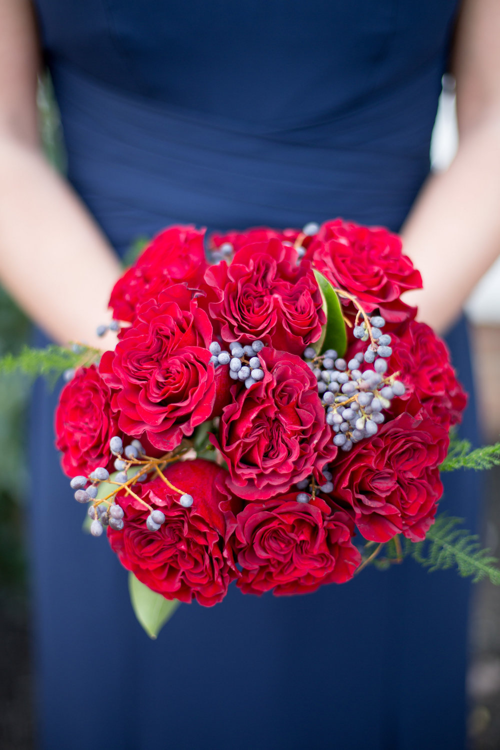 bridesmaid bouquet raleigh winter wedding