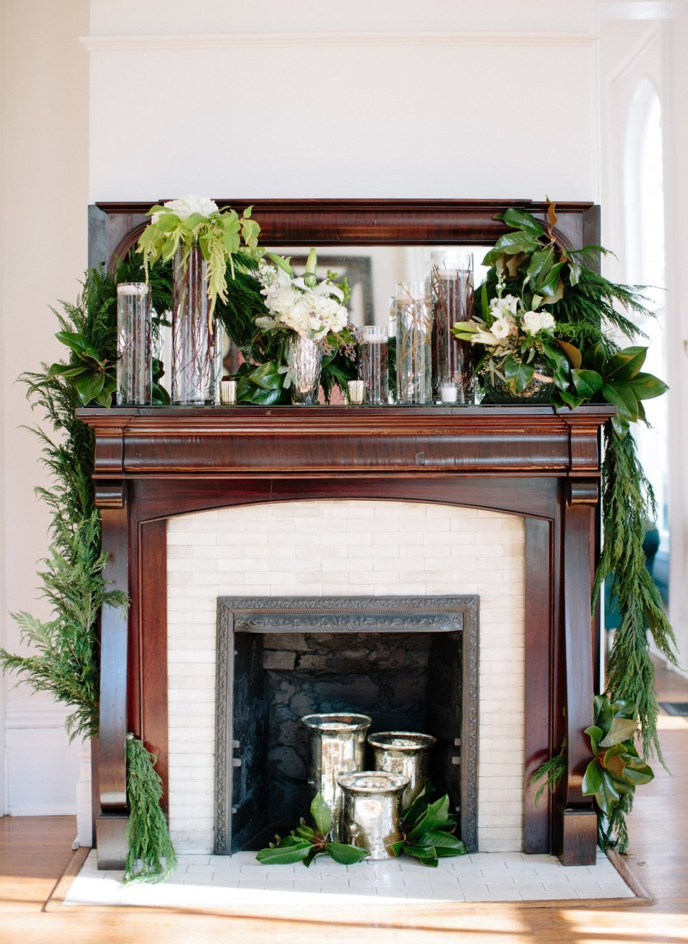 magnolia greenery mantle merrimon-wynne