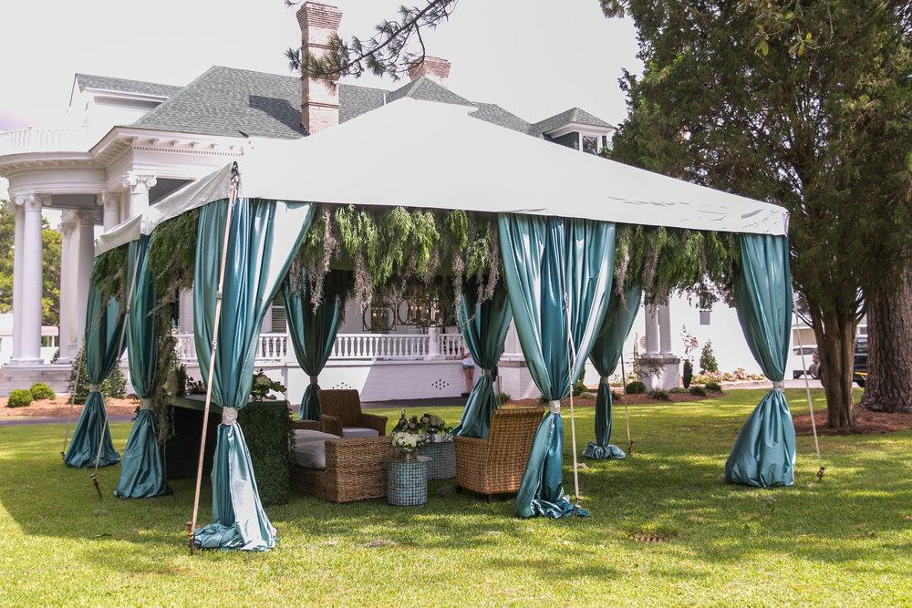 wedding lounge tent coastal inspiration
