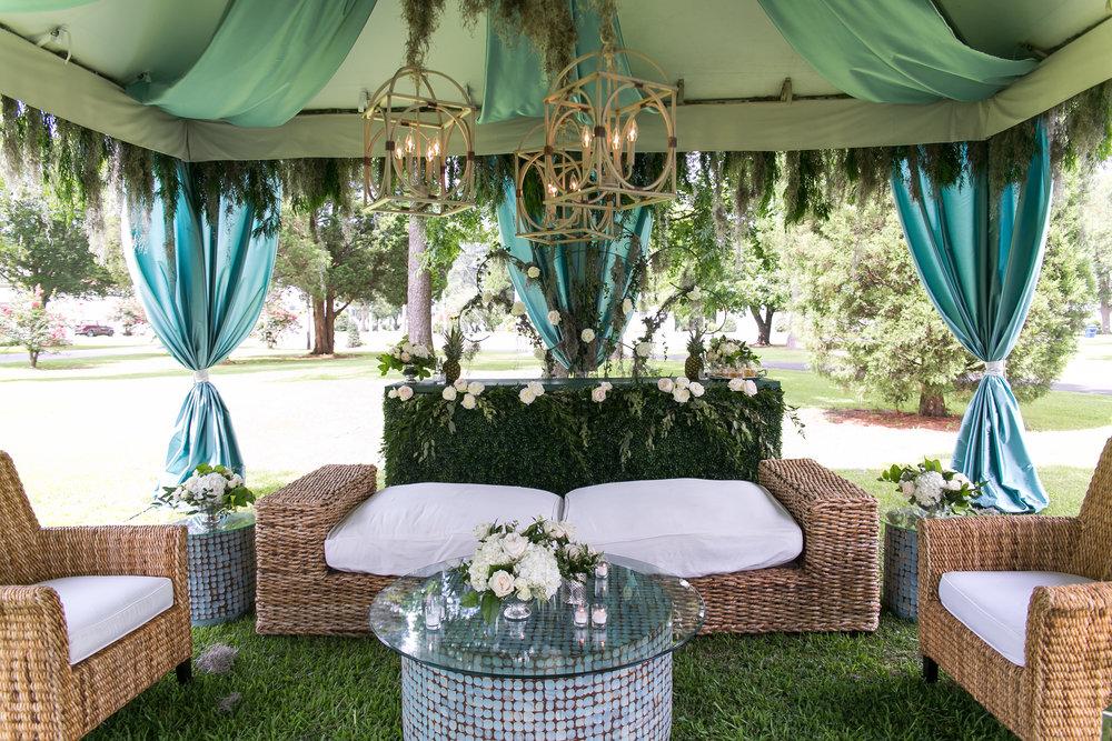 weding lounge florals decor