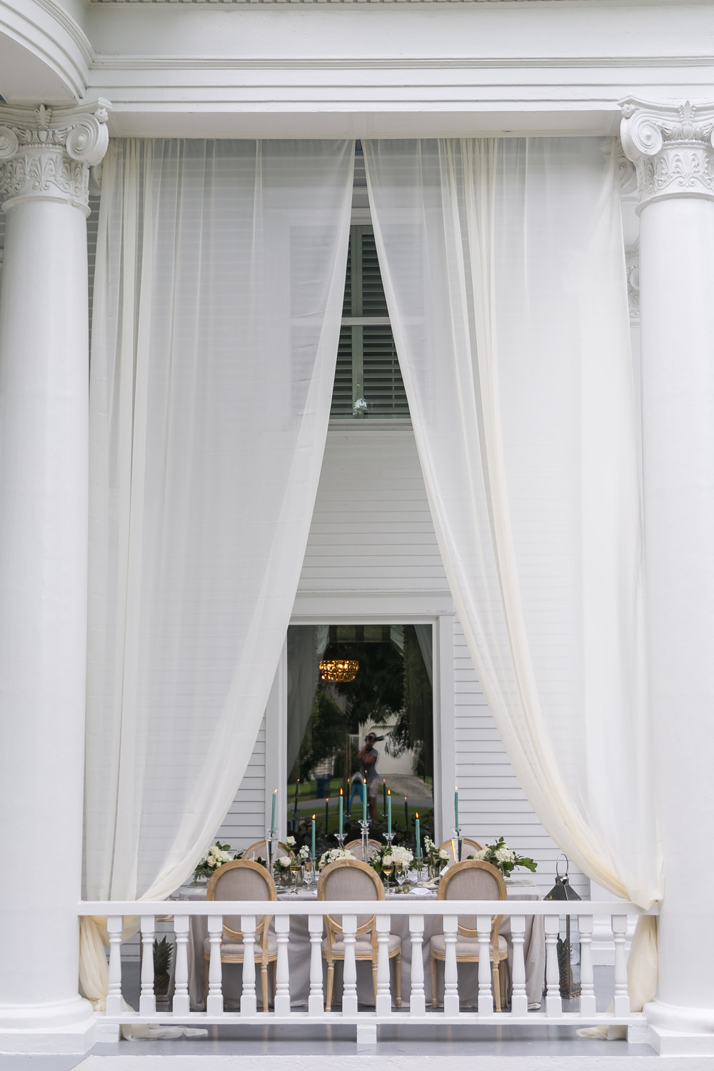 wedidng dinner reception tablescape draping