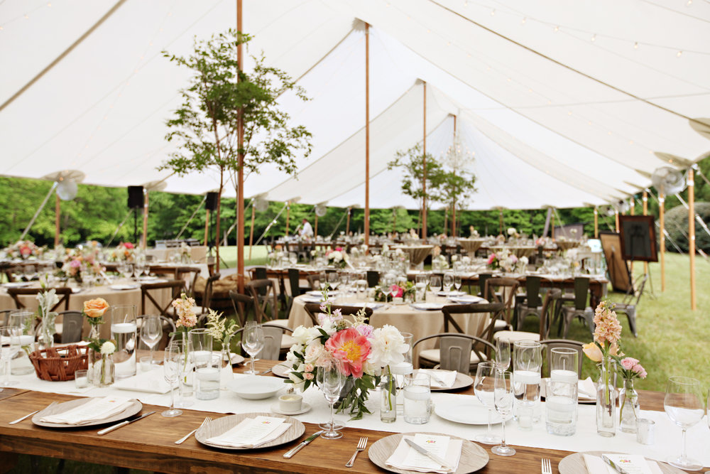 tented backyard at-home wedding