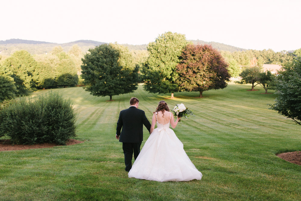 virginia mountain wedding bride groom