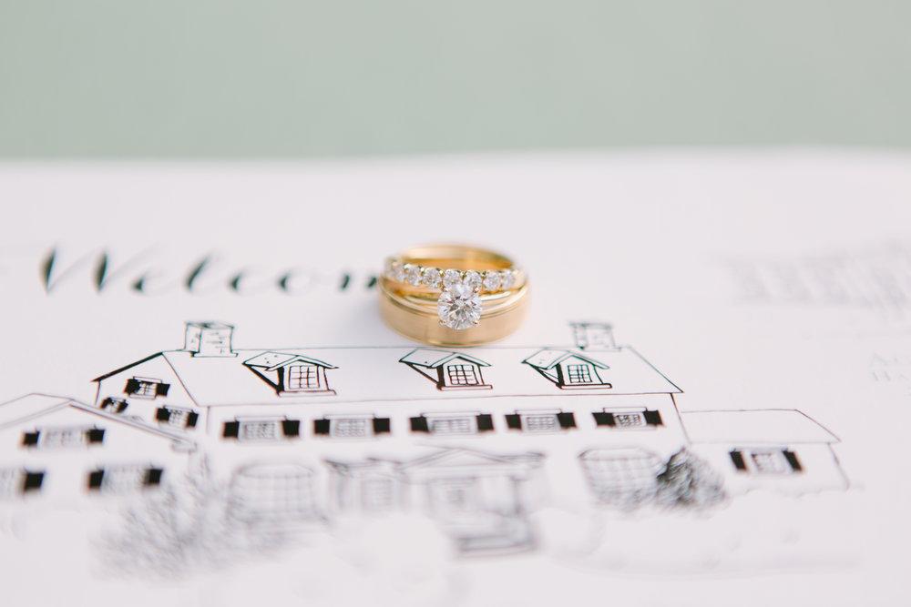 wedding ring custom invitation map