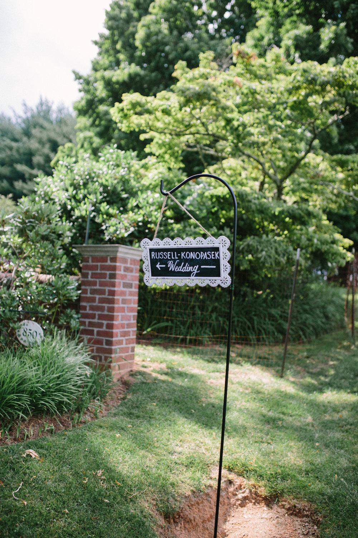 virginia mountain wedding sign