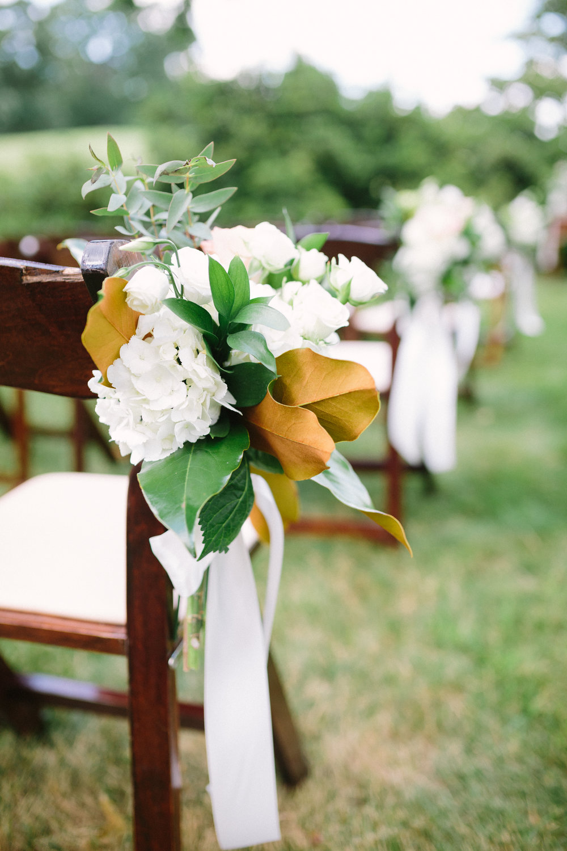 virginia mountain at-home wedding magnolia aisle marker