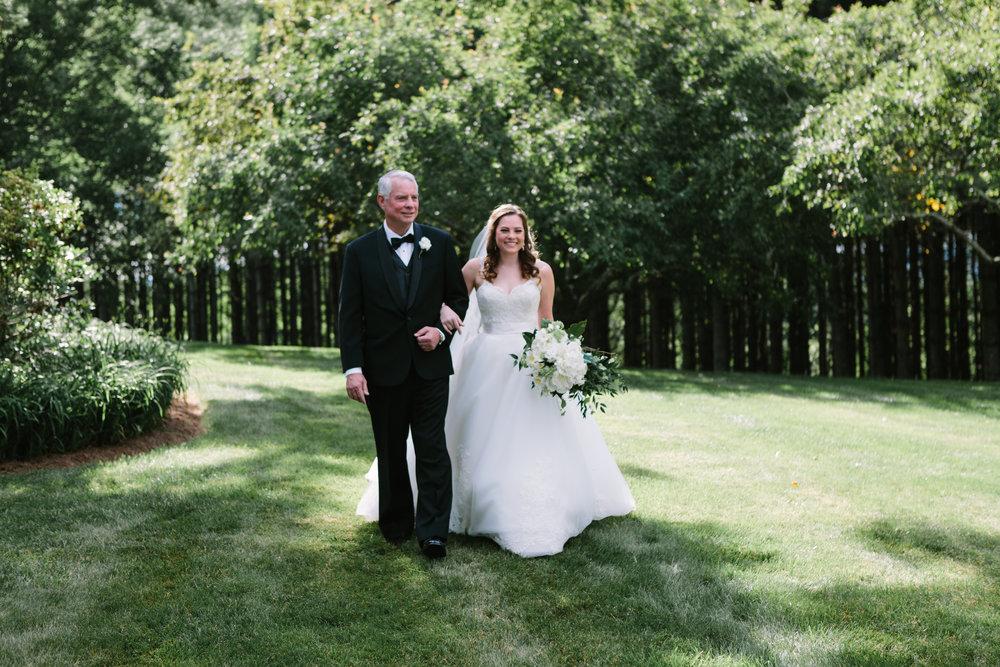 virginia mountain at-home wedding ceremony bride