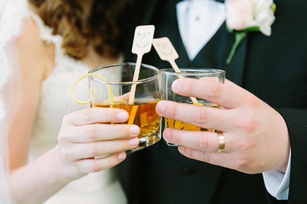 virginia mountain at-home wedding manhattan cocktail