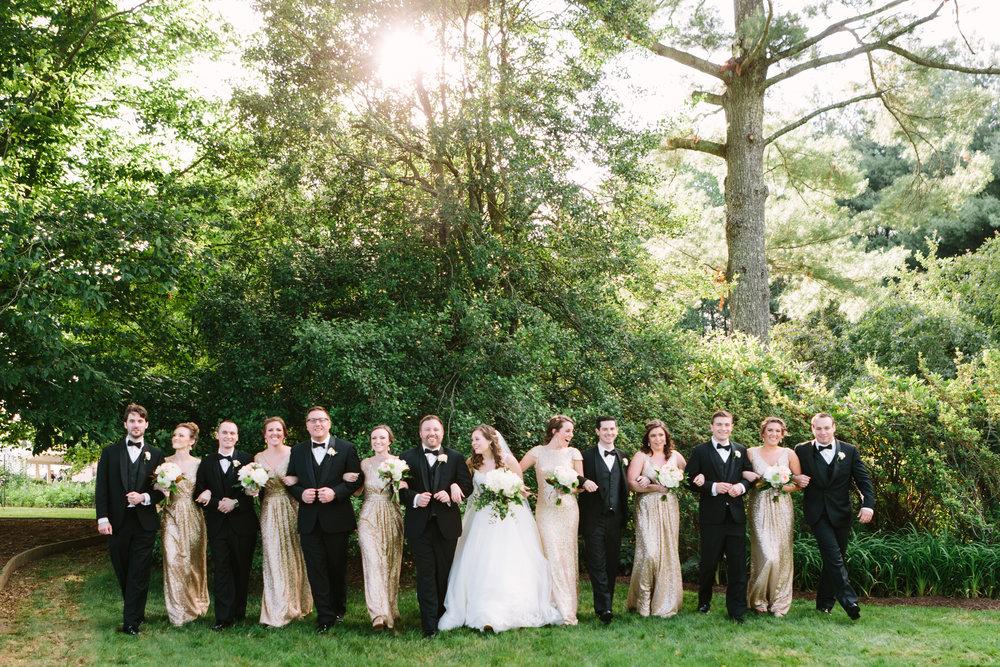 virginia mountain at-home wedding bridal party