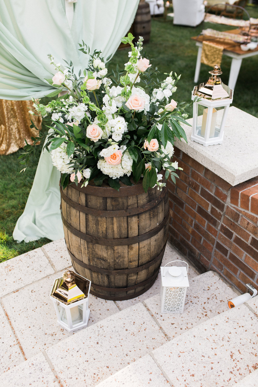 virginia tented at-home wedding flowers