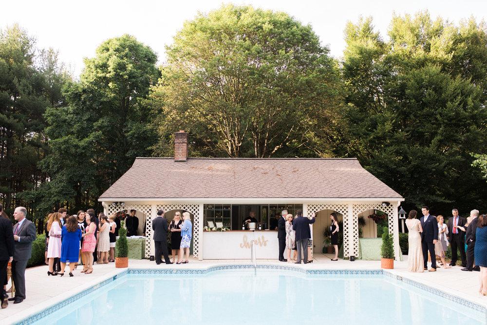 virginia backyard at-home wedding reception