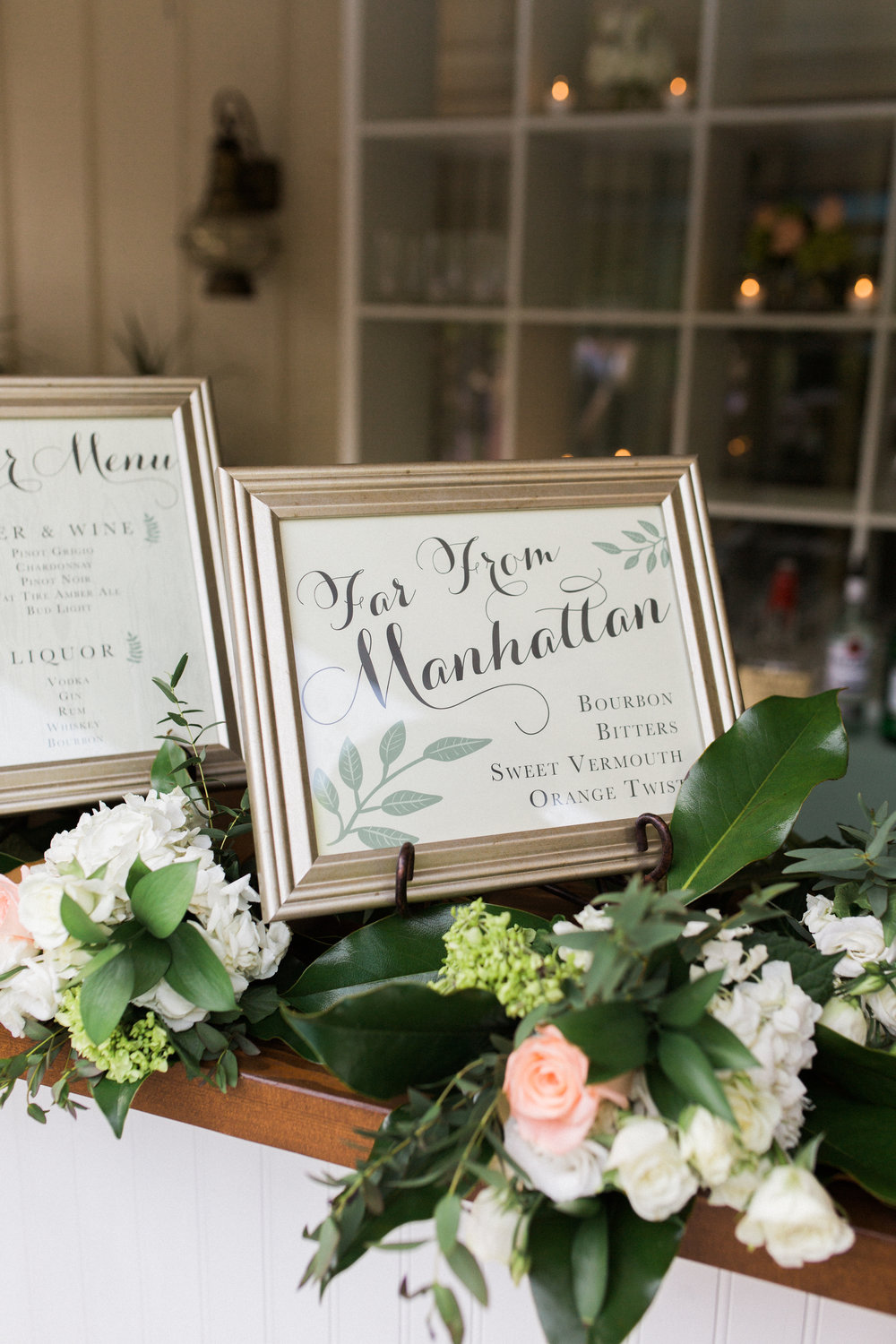 virginia mountain at-home wedding calligraphy signage
