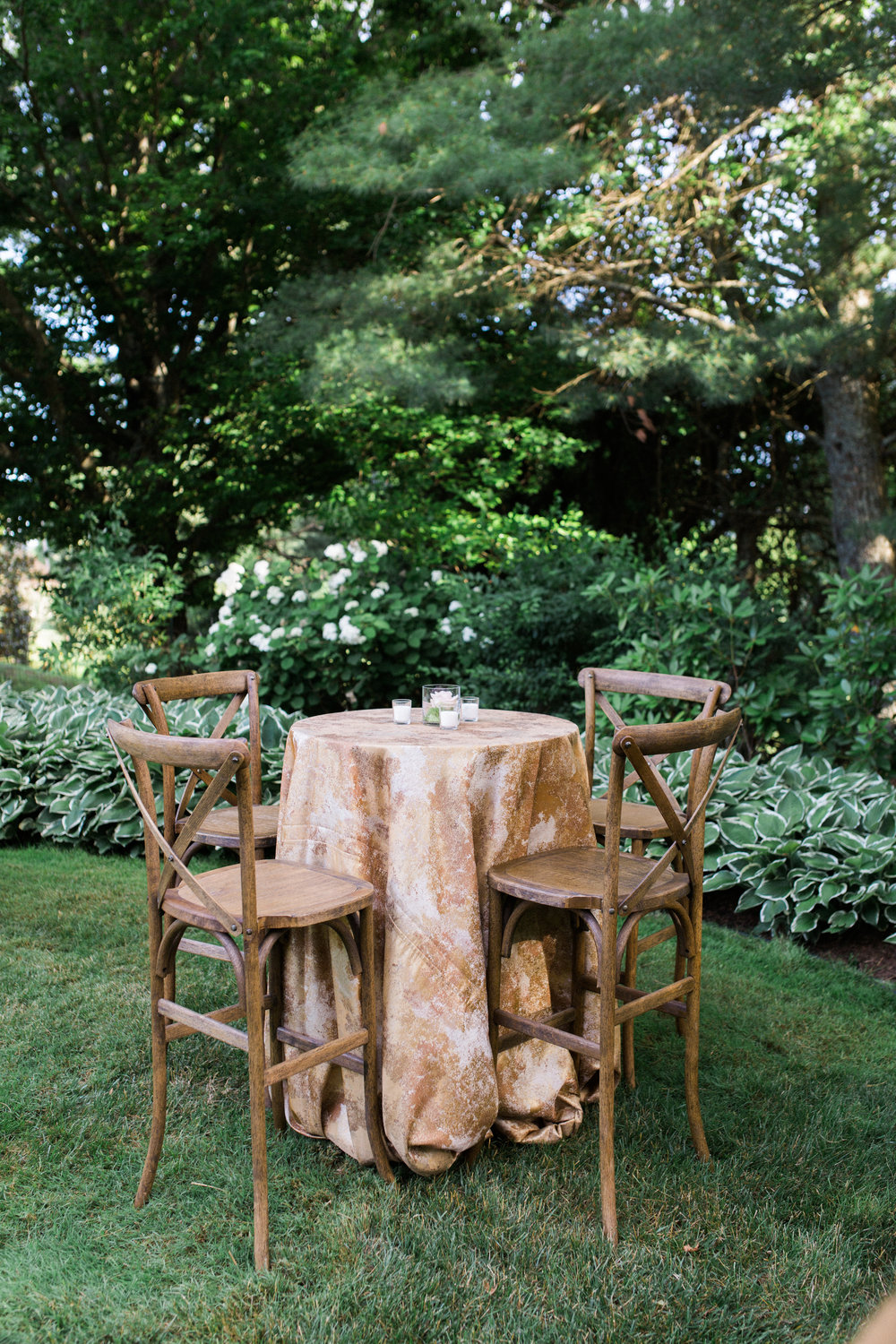 virginia tented at-home wedding reception linens