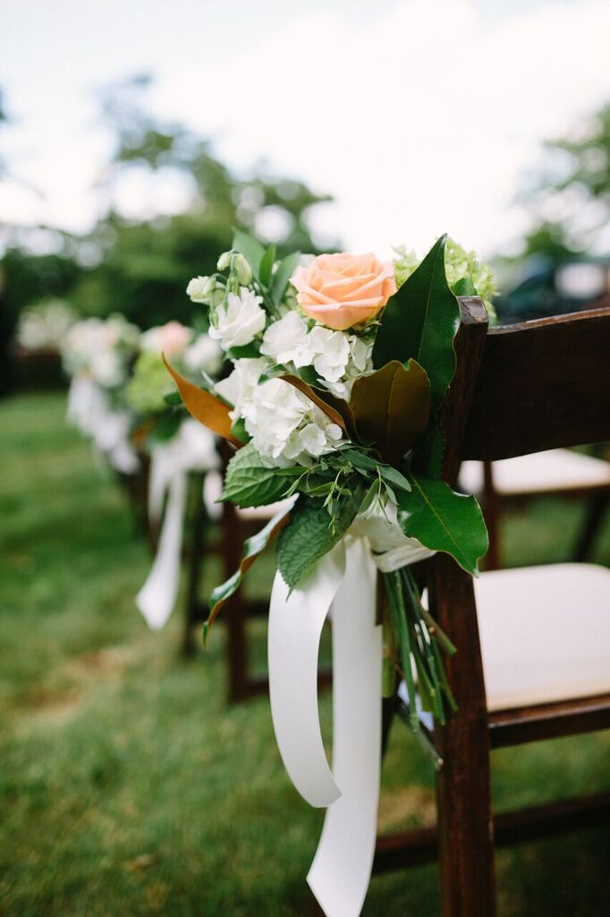 virginia at-home wedding outdoor ceremony