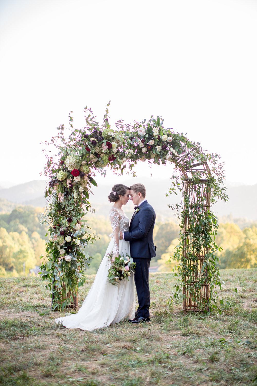 blue ridge mountain wedding Asheville nc