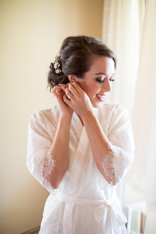 asheville nc wedding bride getting ready