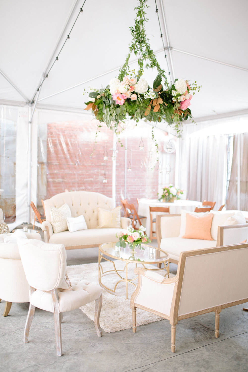 durham nc wedding reception decor floral chandelier