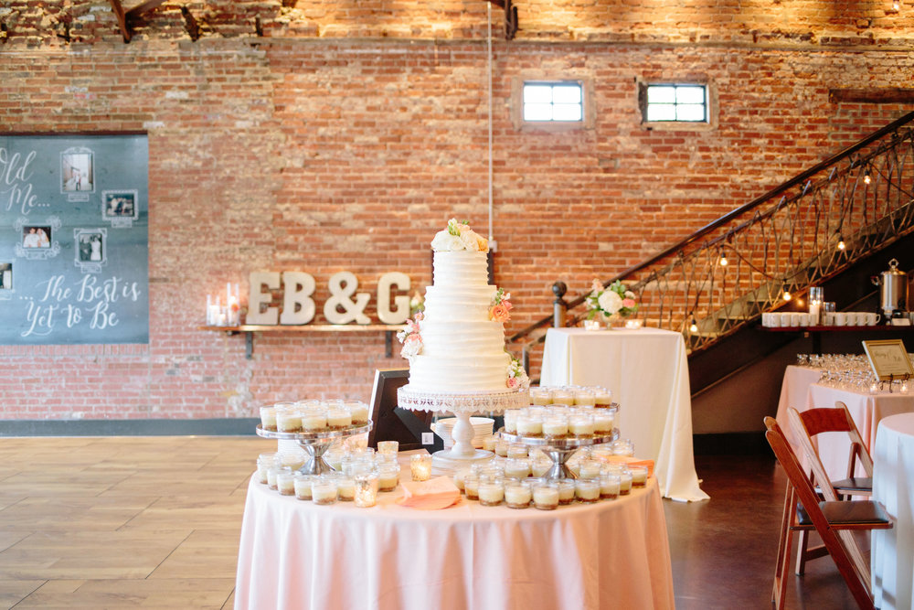 durham nc wedding reception decor cake desert table