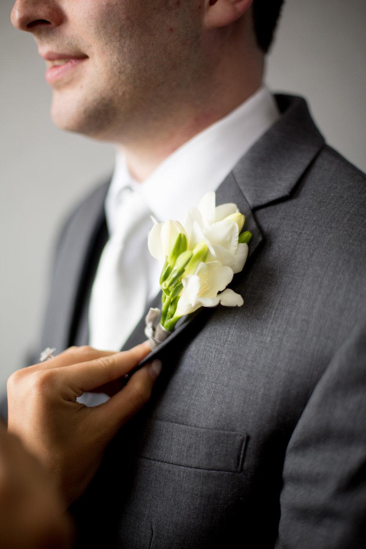 durham nc wedding groom boutonniere