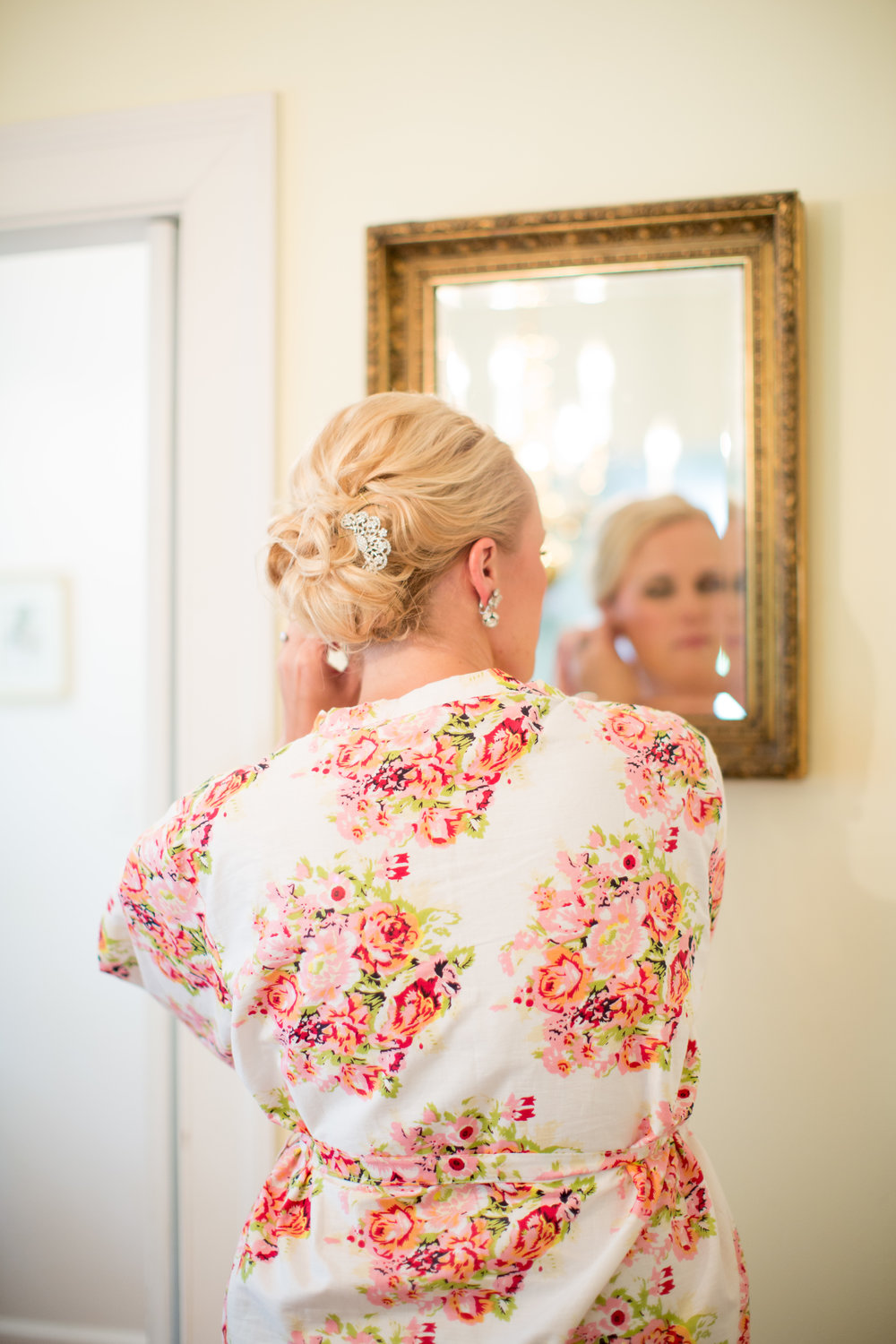 durham nc wedding bride floral robe