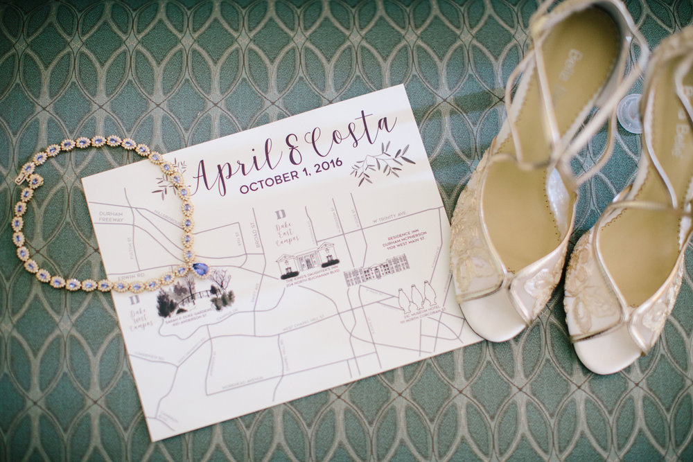 duke gardens wedding durham invitation bridal shoes