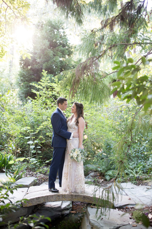 duke gardens wedding durham bride groom
