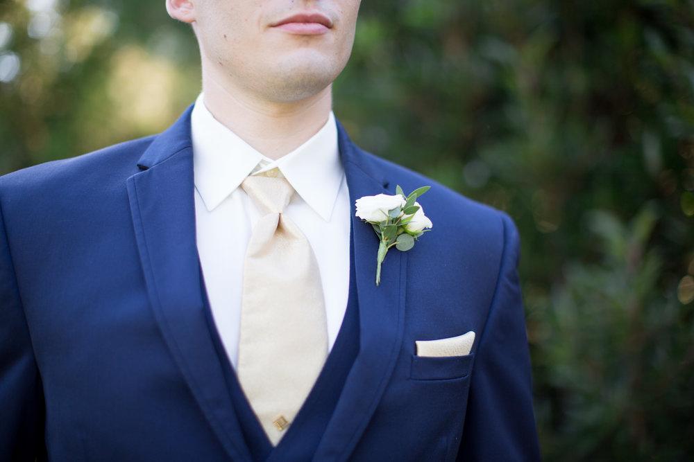 duke gardens wedding durham nc groom boutineer
