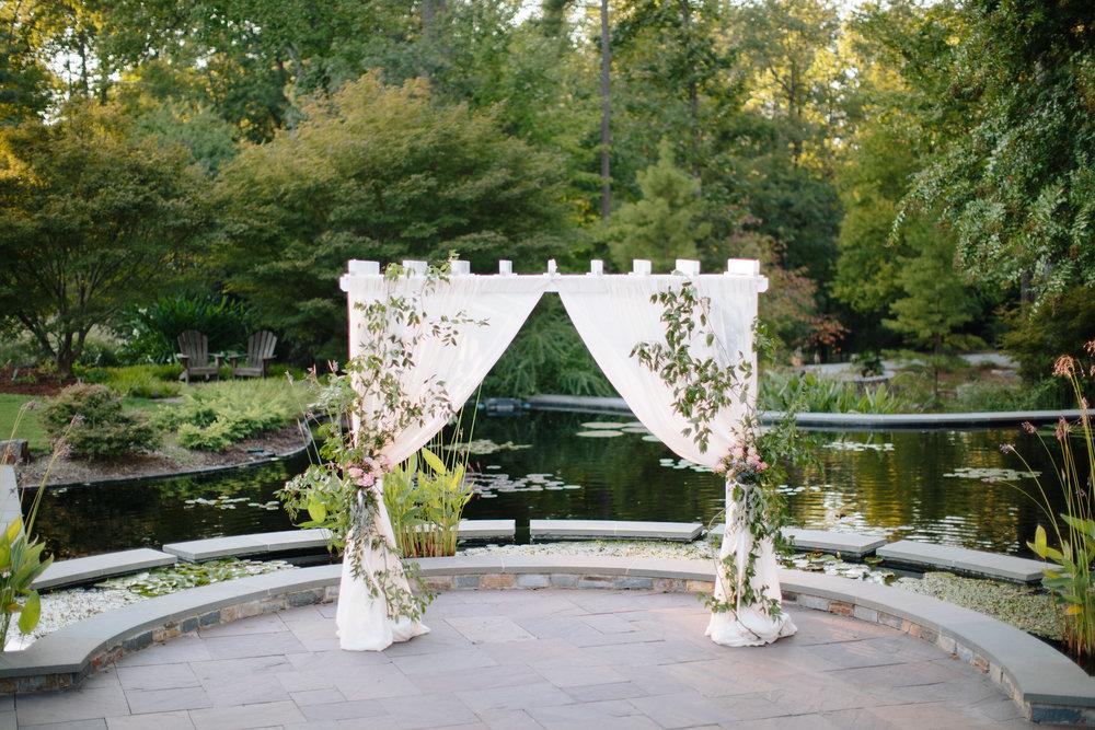 duke gardens wedding durham nc ceremony arbor