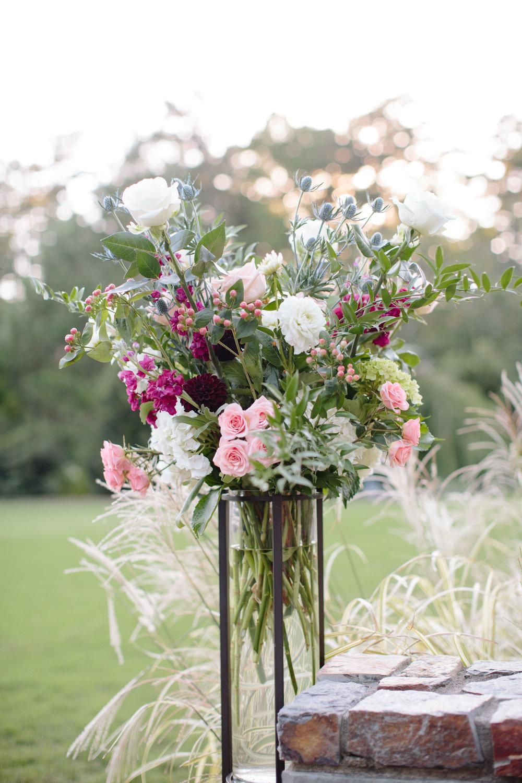 duke gardens wedding durham nc floral decor
