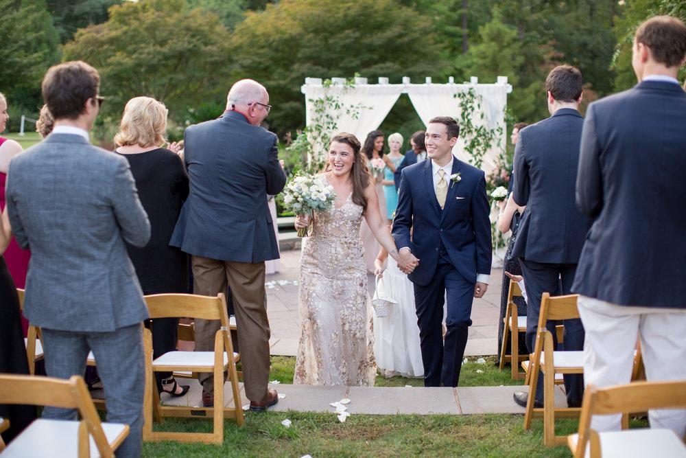 duke gardens wedding durham nc event design bride and groom
