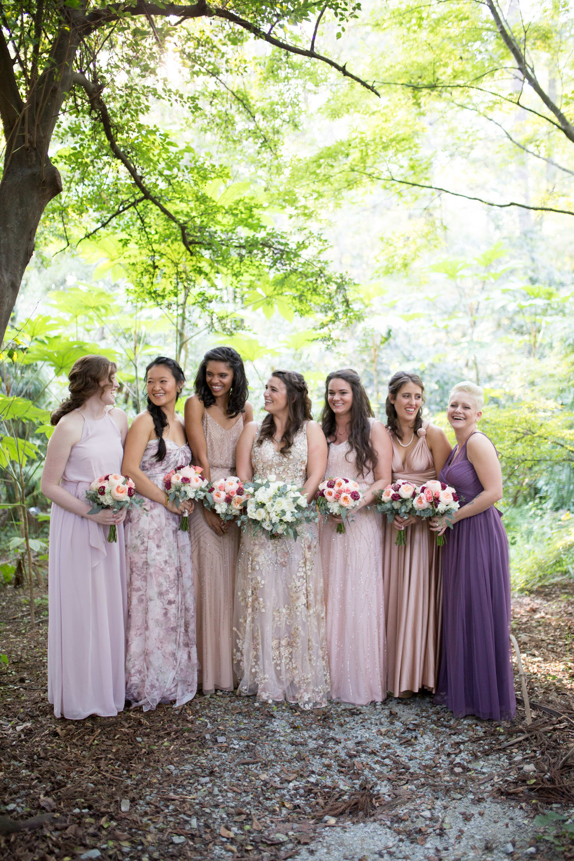 duke gardens wedding durham nc event design bridesmaids