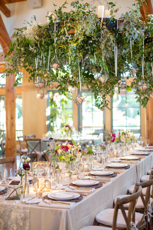 duke gardens wedding durham nc event design floral chandelier