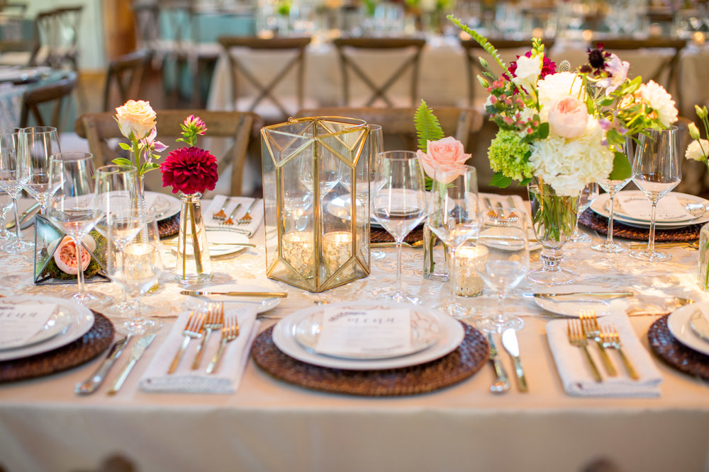 duke gardens wedding durham nc event design place setting