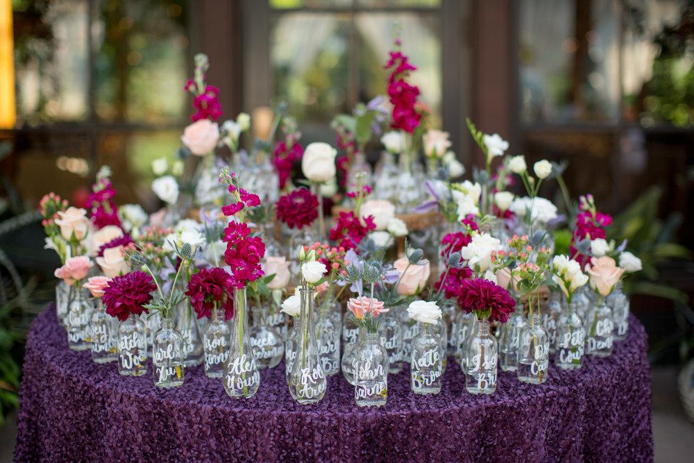 duke gardens wedding durham nc event design escort cards