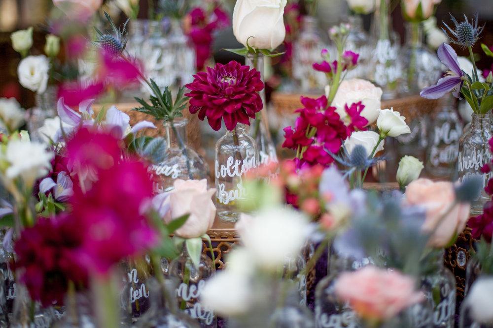 duke gardens wedding durham nc event design escort vase table