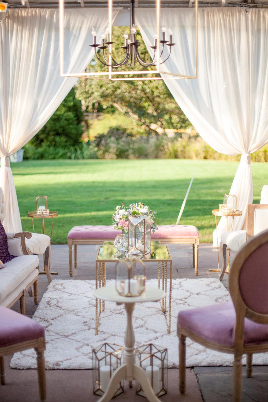 duke gardens wedding durham nc event design tented lounge