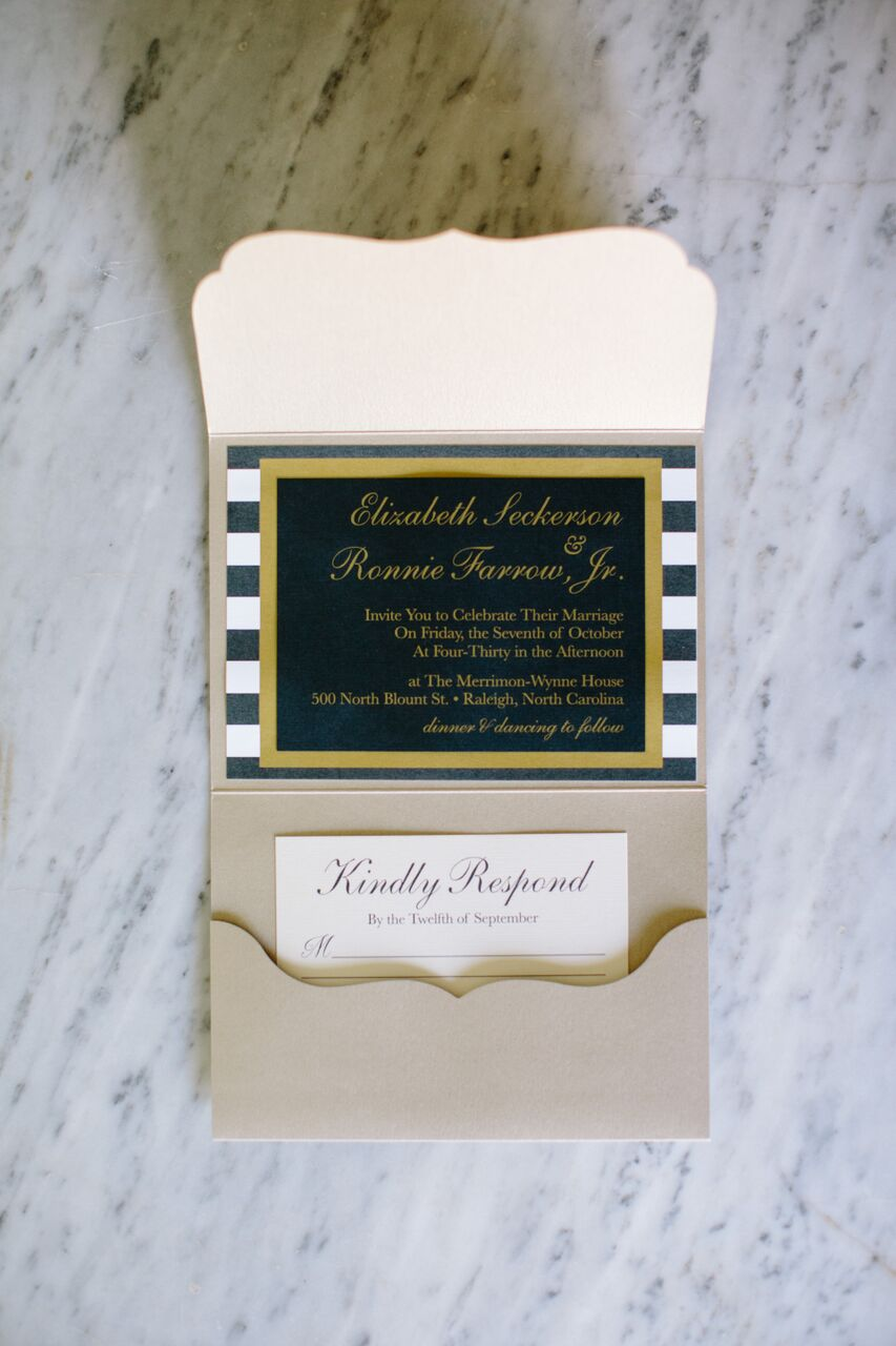 Raleigh nc wedding invitation suite