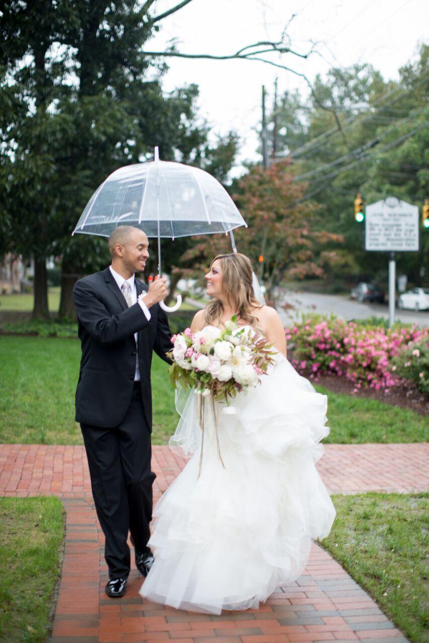 Raleigh nc wedding bride and groom merrimon wynne