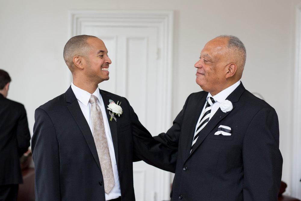 Raleigh nc wedding groom and father