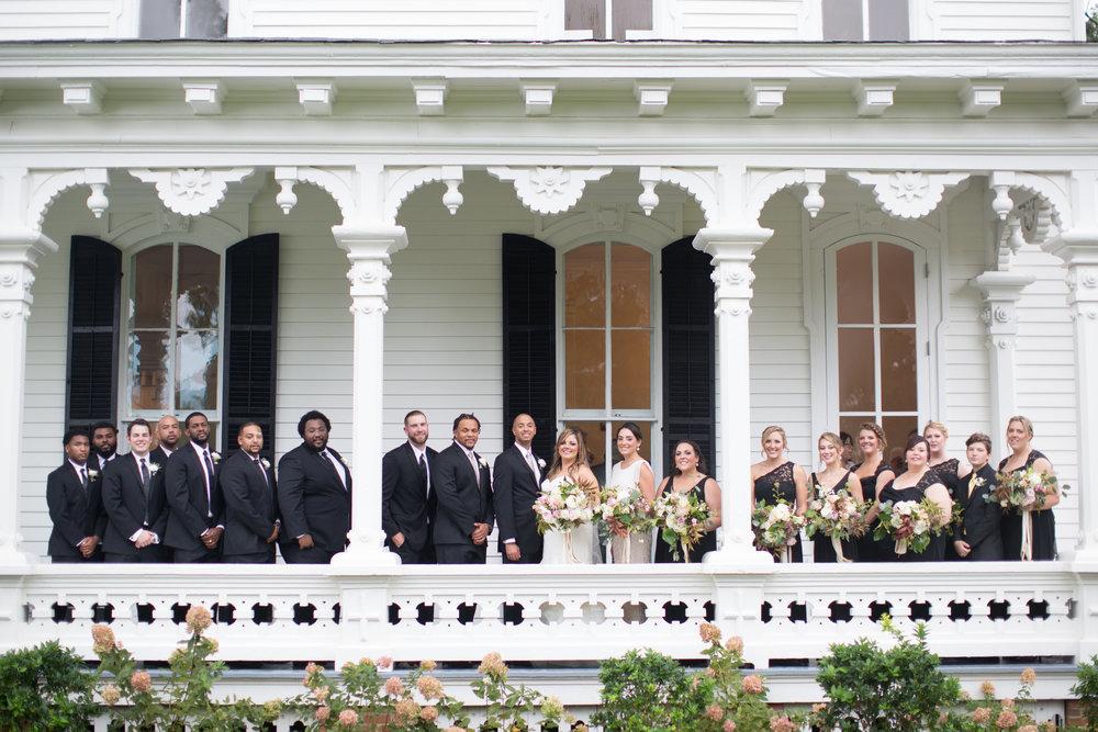 Raleigh nc wedding bridal party merrimon wynne