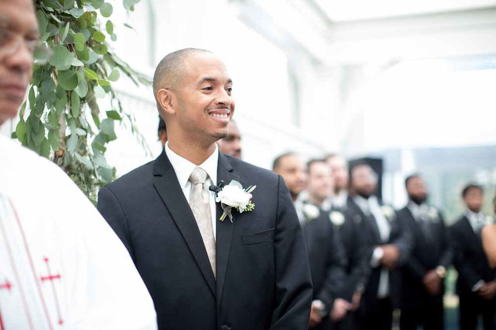 Raleigh nc wedding ceremony groom merrimon wynne