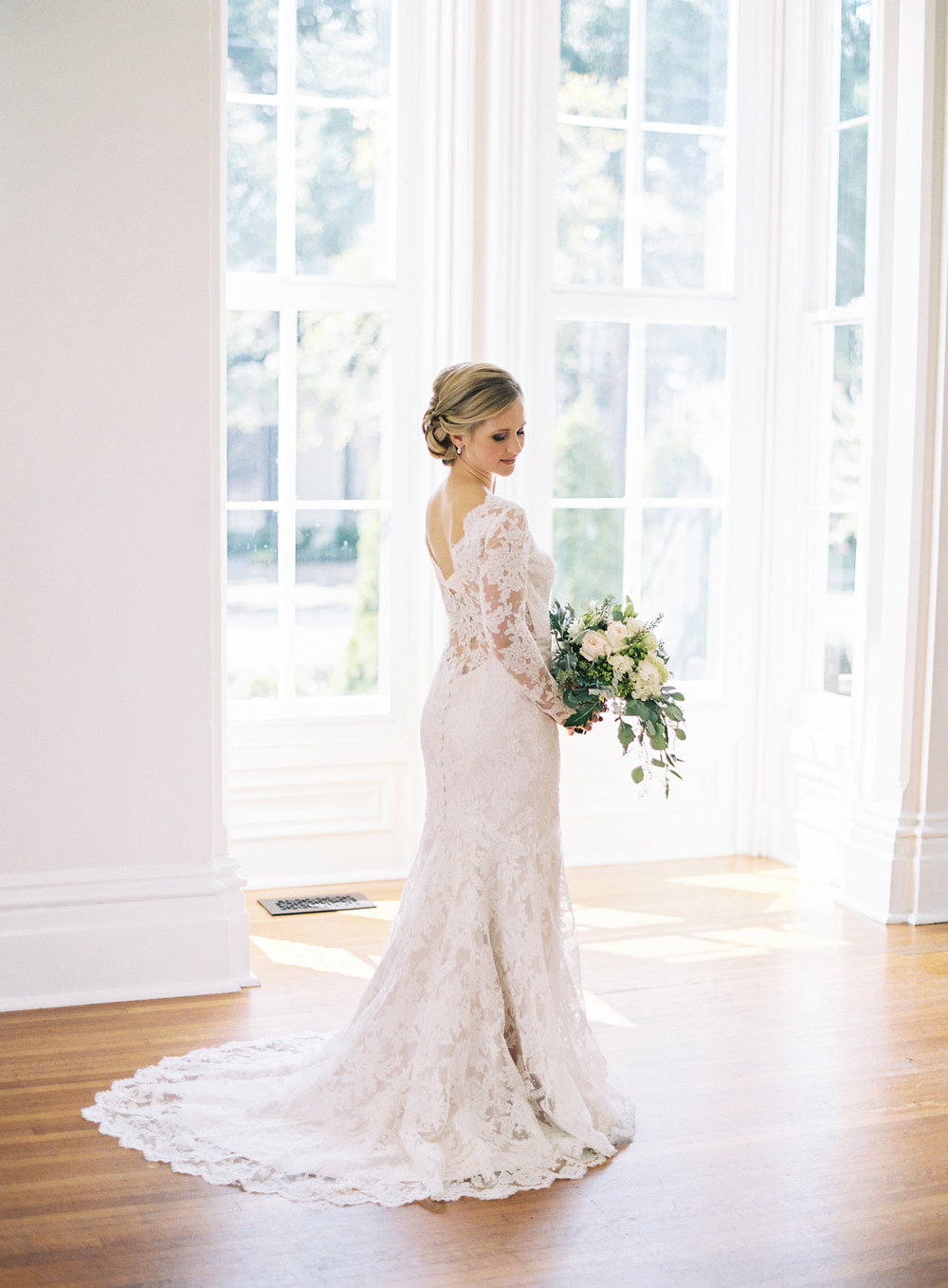 Bridal portrait Merrimon wynne house downtown raleigh North Carolina